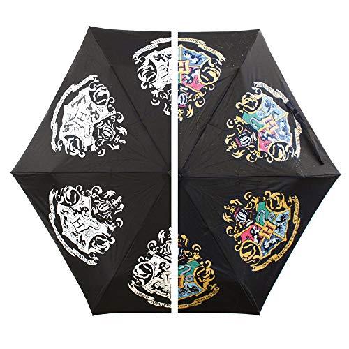 trendaffe Harry Potter Hogwarts Wappen Regenschirm mit Farbwechsel bei Regen - Harry Potter Hogwarts Logo