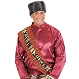 Chapeau arabe sultan cheikh tourbant orientale en satin calife noir couvre-chef 1001 nuits hommes accessoire soirée carnaval déguisement