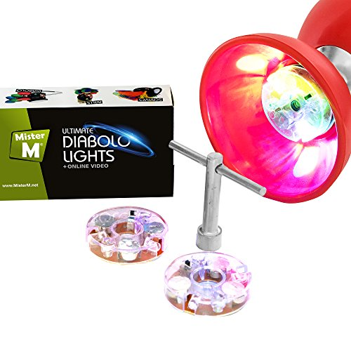 Diabolo LED Set mit 2 Stück LED, Schlüssel + GRATIS online Diabolo Video