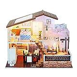 Godbless Puppenhaus 1 Stück DIY puppenhaus mit Licht Wünderschön gestaltetes Modell Kreativ Geburtstag Weihnachts Geschenk (11#)