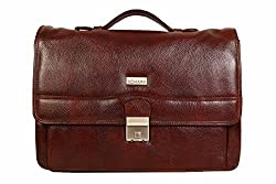 SCHARF Genuine Leather Crossbody Macbook Carry 17 Laptop Case Shoulder Bags