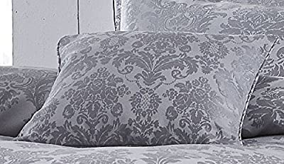Damask Jacquard - Silver - Cushion Cover 43cm