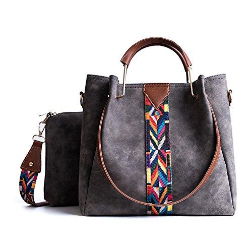 Diagonal Handtasche, Matte Große Kapazität Mode One-Shoulder-Frauen Matt Einfache Umhängetasche,Grey-32 * 32 * 13cm Diagonal Matt