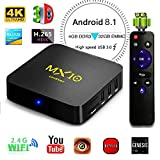 Android TV Box, 4GB+32GB LinStar MX10 Smart 4K TV Box Android 7.1 RK3328 Octa Cora CPU Wifi Set Top Boxes 3D 4K Ultra HD TV