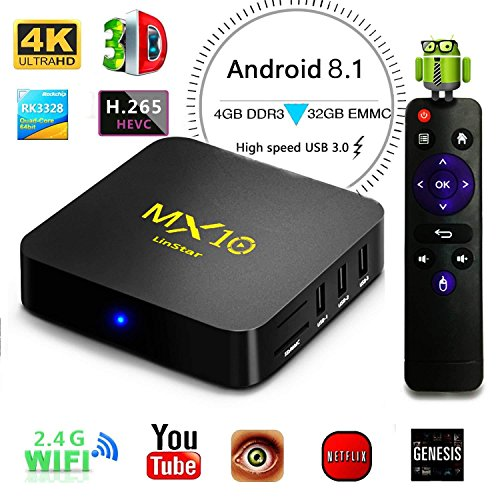 TV Box MX10 Smart 4 K Android 8.1