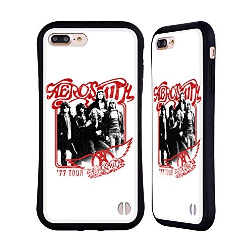 Ufficiale Aerosmith Tour 77 Arte Da Poster 1 Case Ibrida per Apple iPhone 5 / 5s / SE Tour 77