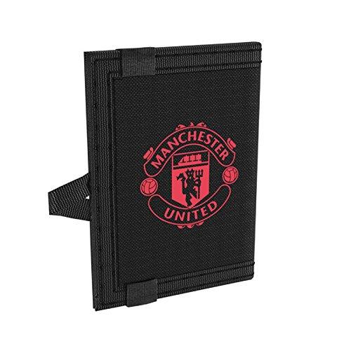 Adidas MUFC Wallet, Cartera Unisex Adultos, (Negro/Rosbas), 5x10x15 cm (W x H x L)