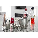 BARcrafts Set da Cocktail (7 Pezzi) con shaker da 500ml, Jigger, Filtro, cucchiaio da Cocktail, Muddler, Tong, secchiello per ghiaccio da 1l