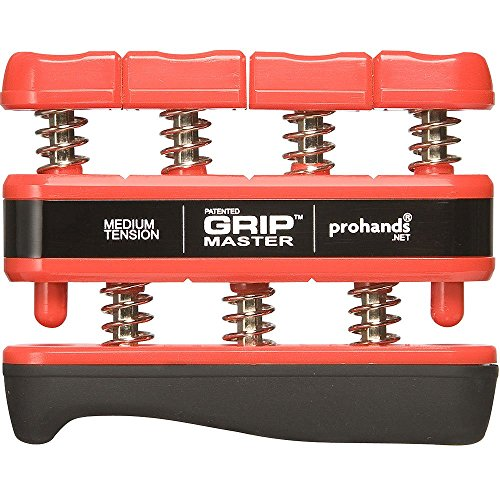 prohands-gripmaster-medium-tension-hand-and-finger-exerciser-red-7-pounds