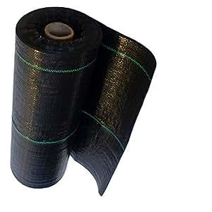 Unkrautvlies Gartenvlies Bodengewebe Unkrautfolie 90g 0,8m x 100m schwarz