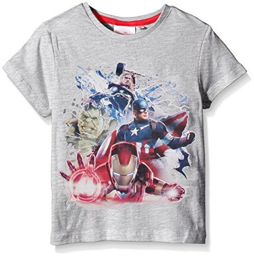 Marvel Avengers - T-shirt  Bambino, Grigio (Light Grigio Melange),6 anni