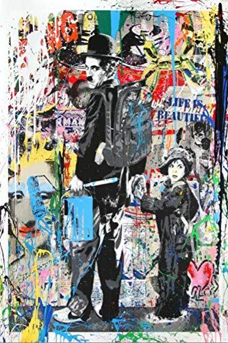 Bilder Auf Leinwand Bild Druck Auf Leinwand Folge Deinen Träumen Straße Wand Graffiti Auf Leinwand Gemälde Abstrakt Einstein Pop Art Kunstdrucke Auf Leinwand Für Kinder Zimmer Einrichtung, 60 X (Einstein-bild)