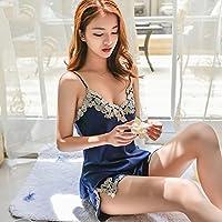 Pyjamas Frauen Sommer Silk Lace Silk Shorts Home Service Anzug Strap Sexy Zweiteilige (Schlinge + Shorts) GAOLILI