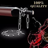 Catena porta bottiglie, Shineus metal Magic Chain Wine Bottle Holder Floating Illusion supporto per cucina casa bar Accessori Decor (argento)