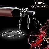 Shineus Kette Weinregal Illusion Magic-Kette, Wein-Flaschenhalter, für zu Hause, Küchen-Zubehör, Silber