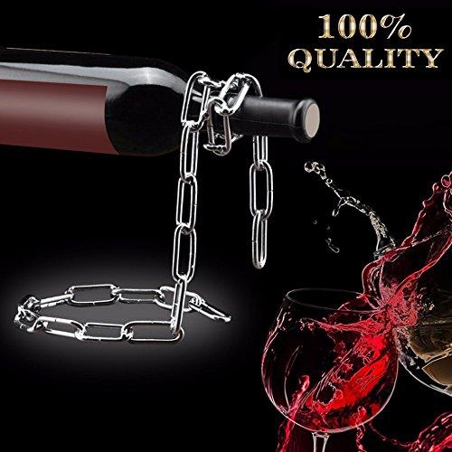 Shineus Kette Weinregal Illusion Magic-Kette, Wein-Flaschenhalter, für zu Hause, Küchen-Zubehör,...