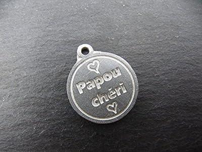 Médaille en étain 17mm - Papou chéri
