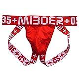 Herren Sport Elastic Jockstrap Tanga Unterwäsche mit Cup Pocket Red EUR L/Größe XL