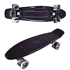 Streetsurfing Wipe out Penny Board (monopatín) Negro - Monopatines (Penny Board (monopatín), Negro, Monótono, Negro, Blanco, 57,2 cm, 160 mm)