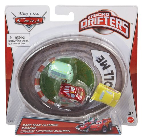 Cars Micro Drifters Fillmore, Yellow Ramone and Radiator Springs McQueen Vehicle, 3-Pack