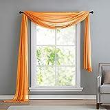 Gardinenbox Ornament Horizontal für Vorhänge Voile, Transparent Orange