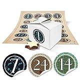 Telecharger Livres 24 Petites boites cadeau Aspect bois blanc 8 x 6 5 x 5 5 et ronde autocollants Calendrier de l Avent chiffres 1 24 Vintage 10360 O 4 cm (PDF,EPUB,MOBI) gratuits en Francaise