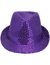 toyobuy sombrero Jazz Panama Western Fedora con paillette