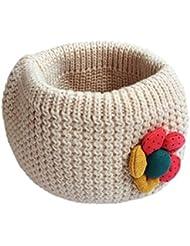 Tongshi Los niños de la bufanda de invierno junta tórica de punto de lana de bebé de la bufanda del calentador del cuello