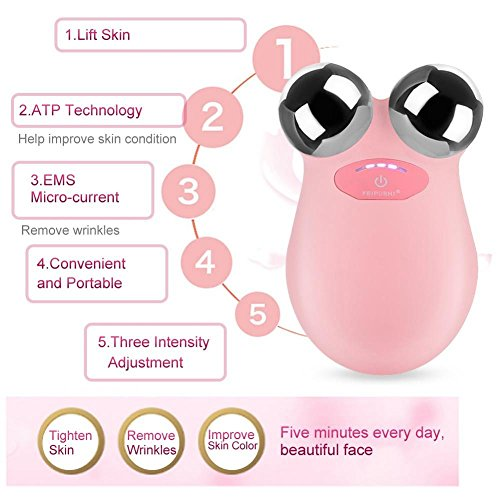 Elektrische Micro-current Vibration Y Shape 3D Roller Face Massager Lifting Tighten Device, Facelift Massagegerät Faltenschwellung Entfernung Hautpflege Gerät - 2