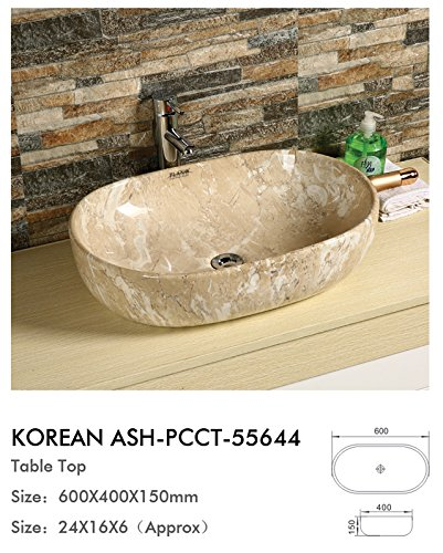 Plano Designer Sanitary ware Tabletop Wash Basin Korean Ash