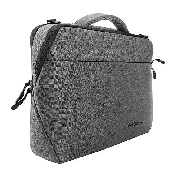 AirCase 13-Inch to 14-Inch Laptop Bag Briefcase, Laptop Messenger Bag for Women, Men -Grey