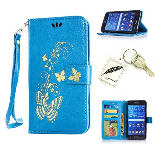 Preisvergleich Produktbild Silikonsoftshell PU Hülle für Samsung Galaxy Grand Prime / SM-G530 G531F Tasche Schutz Hülle Case Cover Etui Strass Schutz schutzhülle Bumper Schale Silicone case+Exquisite key chain X1) #AW (3)