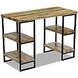 vidaXL Bureau en bois de manguier Table de travail Table d'ordinateur 110 x 55 x 76 cm