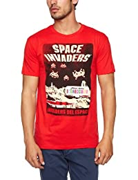 Trademark Space Invaders Del Espace Printed Men's Tee
