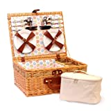 Gifts Flowers Food Best Deals - Firenze formato famiglia picnic e crema Chiller Borsa con accessori per 4 persone idee regalo
