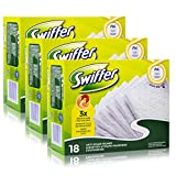 3 x Swiffer Anti-Staub Tücher je 18er Pack, Nachfüllpackung, dickere Tücher
