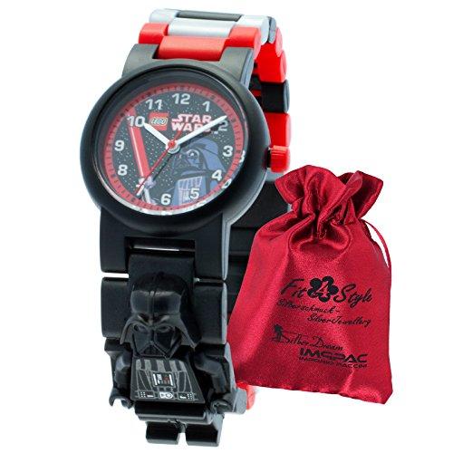 Lego Darth Vader Niños Reloj De Pulsera Lego Star Wars Negro Rojo Gris con bolsitas de plástico pulsera reloj de cuarzo ule8020417