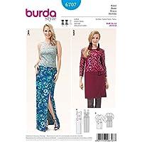 Burda 6707 Bean Bag Bazaar para mujer patrón de costura para faldas y blusas de patrones