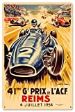 YASMINE HANCOCK Reims Grand Prix Metall Plaque Zinn Logo