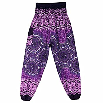 Women Yoga Pants, Amlaiworld Sexy Men Women Thai Harem Trousers Boho Festival Hippy Smock High Waist Yoga Pants (1pc, Purple) 2