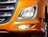 24/7Auto 2teilig, Edelstahl Scheinwerfer Surround Dekorationen für XF 106Trucks Spiegel poliert Zubehör