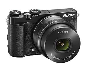 """Nikon 1 J5+ 1 Fotocamera Digitale ad Ottiche Intercambiabili, 10-30 mm, 20,8 Megapixel, 4K, LCD Touchscreen Basculante 3"""", Micro SD 16GB 300X Lexar, Nero [Nital Card: 4 Anni di Garanzia]"""