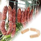 2 Pcs Saucisse Collagène Boyau Rôti De Saucisse Porc Séché Boyau D'enveloppe Collagène Gaines Comestibles Tube Hot Dog Saucisses De Viande en Boyau, 14 26 MM