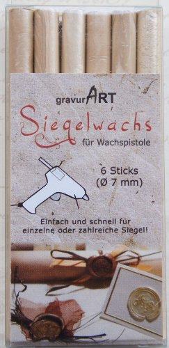 7mm Siegelwachs flexibel für Wachspistole - Elfenbein Perl. - 6er Pack