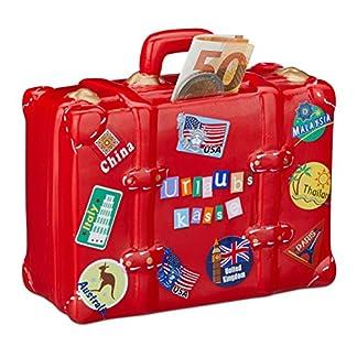 Relaxdays-Spardose-Urlaub-Koffer-mit-Stickern-Urlaubskasse-Reisekasse-XXL-Sparbchse-HxBxT-14-x-15-x-7-cm-rot