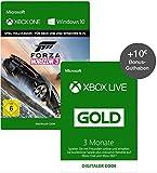 Xbox Live 3 Monate Gold-Mitgliedschaft + Forza Horizon 3 Standard + 10? Xbox Live Guthaben [Xbox Live - Download Codes] -