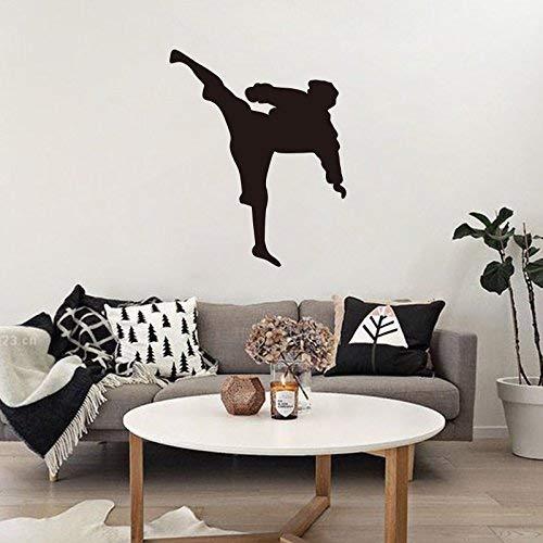 FERZA Home Wandaufkleber Wandbild Kunst Dekor Abnehmbare wasserdichte Geschnitzte Wandmontage Kampfkunst Figuren grün Geschnitzte Wandhalterung