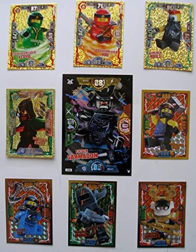 Lego Ninjago Serie 2,3,4 - 9 Limitierte Gold Karten Trading Card XXL Fieser Garmadon Serie 2 - LE 12 Serie 3 - LE 1 LE 2 LE 21 Serie 4 - LE 2 LE 6 LE 7 LE 23 - Serie 12