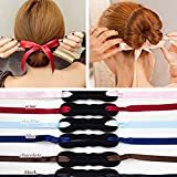 Frcolor Ruban Magic French Twist Bun Maker Holder Hair Donut Hair Bun Donut, Pack of 3