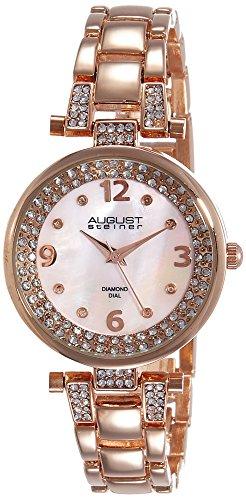 August Steiner Reloj con movimiento cuarzo suizo AS8137RG 32 mm
